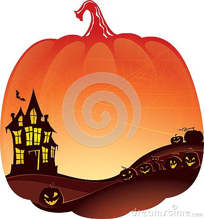 Free Halloween Double Exposure Background With Haunted House Stock Photo - 77668720