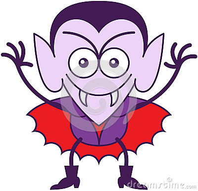 Free Halloween Dracula Being Mischievous Royalty Free Stock Images - 45347599