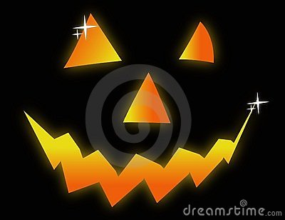 Halloween face symbol illustration
