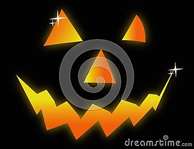 Halloween face symbol illustration