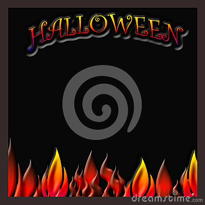 Halloween flaming poster