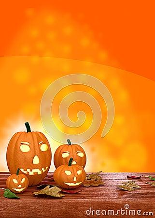 Halloween Flyer Design Template Pumpkin Stock Photos, Images ...