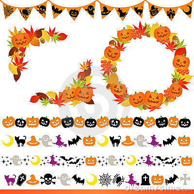 Halloween frame and line