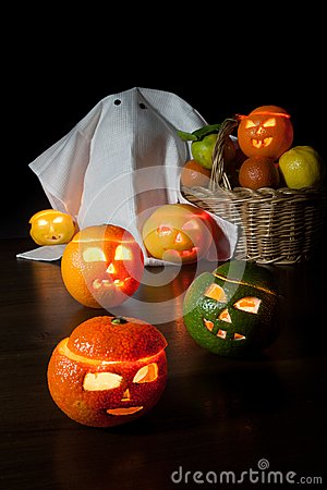 Free Halloween Fruits Royalty Free Stock Images - 27059849