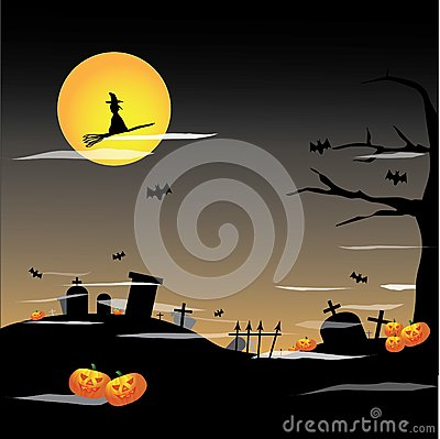Halloween Full Moon Background