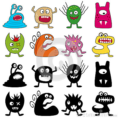 Halloween Funny Monsters Set