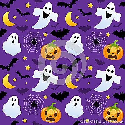 Free Halloween Ghosts & Pumpkins Seamless Royalty Free Stock Photo - 78182695