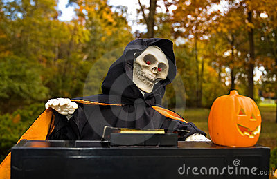 Halloween Ghoul Playing a Piano