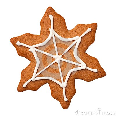 Free Halloween Gingerbread Cookie Spiderweb Isolated On White Backgro Royalty Free Stock Photo - 105658125