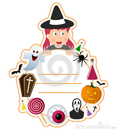 Halloween Girl Book Cover Frame