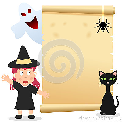 Halloween Girl Invitation Card