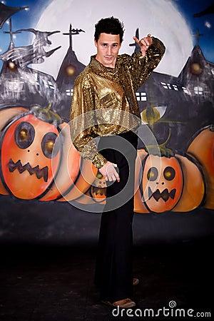 Halloween glitter man