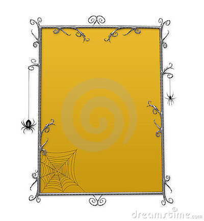 Halloween Goth Checkerboard Frame