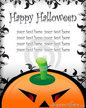 Halloween greeting/invitation card