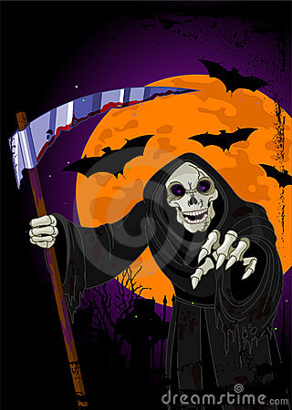 Halloween Grim Reaper background