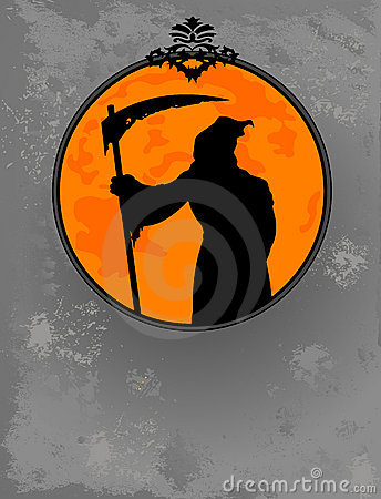 Halloween Grim Reaper  Silhouette Stock Photo - Image: 21686960