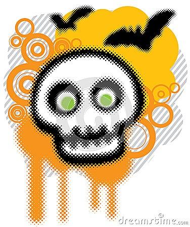 Halloween grunge art