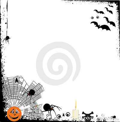 Halloween grunge background with design elements