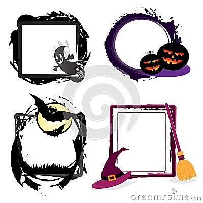 Halloween grunge frames