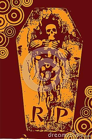 Halloween grunge RIP orange