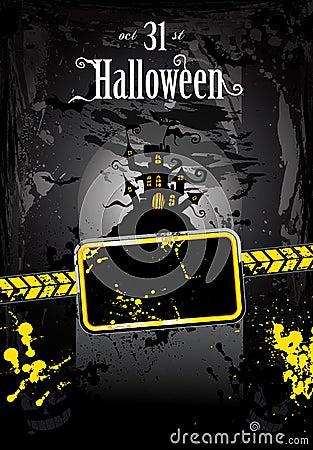 Halloween Grunge Style Flyer