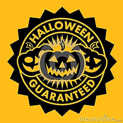 Halloween Guaranteed Pumpkin Seal