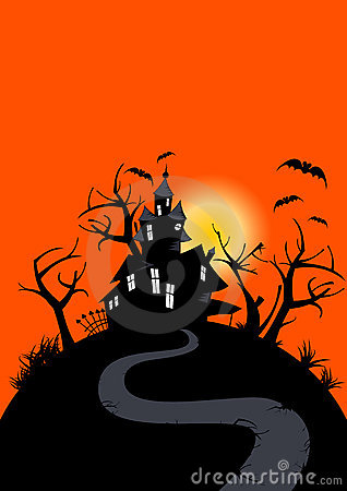 Free Halloween Haunted House Stock Photography - 10993752