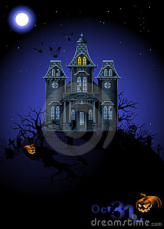 Free Halloween Haunted House Royalty Free Stock Photography - 15634257