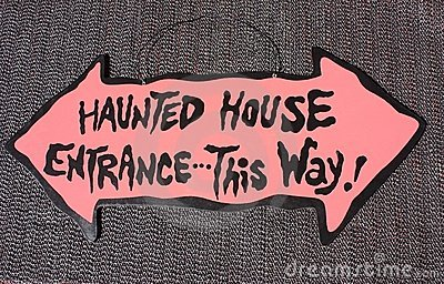 Halloween Haunted House Sign Royalty Free Stock Image ...