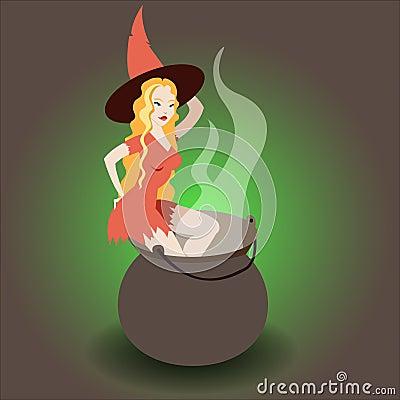 Halloween heks het koken stock afbeeldingen beeld 33526944 for Beeldkoken