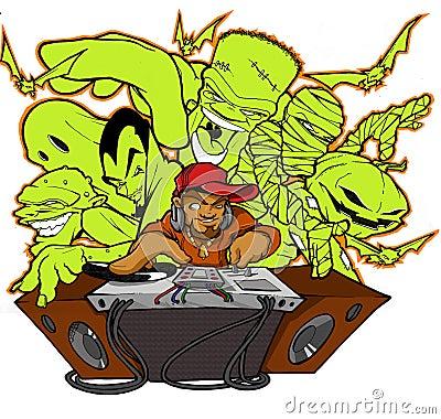 Halloween hip hop club