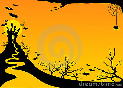 Halloween horizontal background
