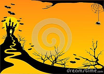 Halloween horizontal background