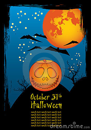 Halloween horror background