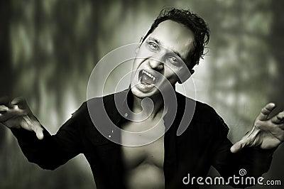 Halloween horror concept. male vampire