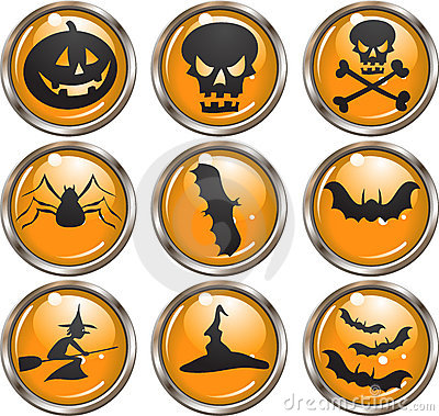 Halloween Icon Buttons