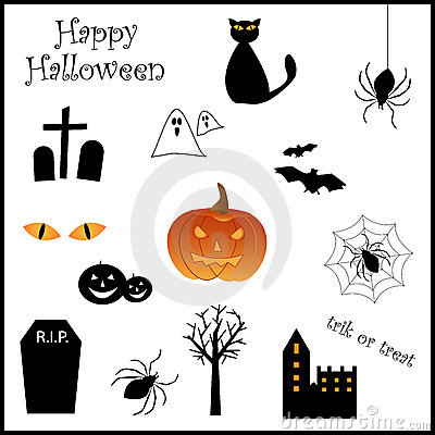 Free Halloween Icon Set Royalty Free Stock Images - 15846009
