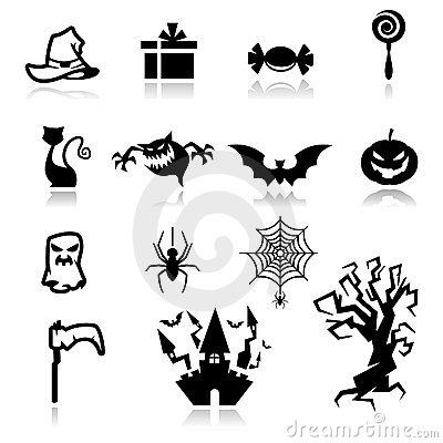 Halloween Icons Royalty Free Stock Photos - Image: 21512618