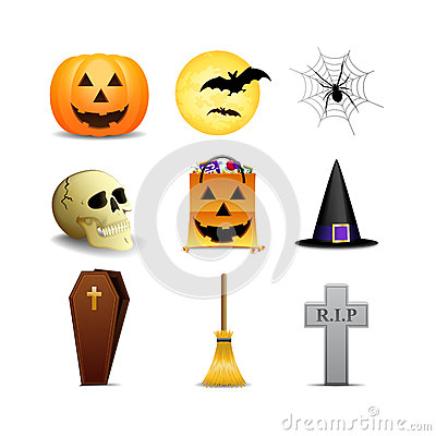 Free Halloween Icons Stock Image - 26164531