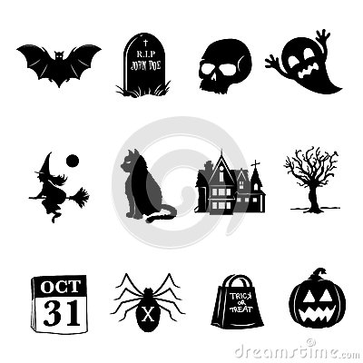 Free Halloween Icons Stock Photography - 33888262