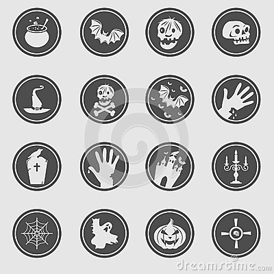 Free Halloween Icons Royalty Free Stock Photo - 34542475