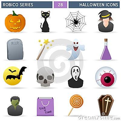 Free Halloween Icons - Robico Series Stock Photos - 21382403