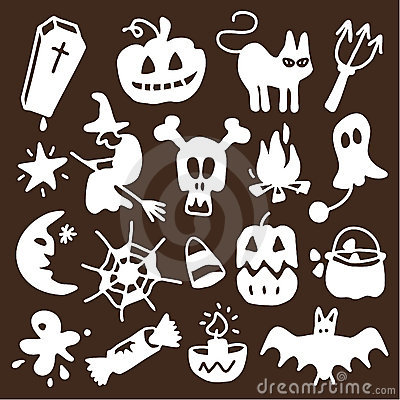 Halloween icons - silhouettes