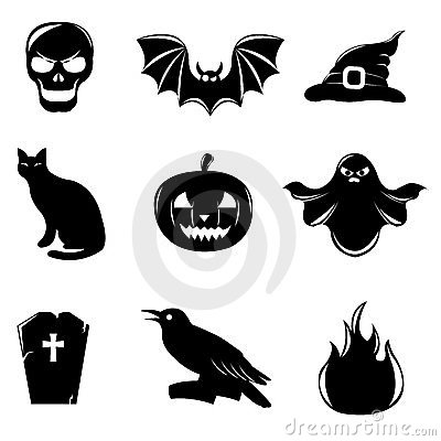 Halloween Icons. Vector