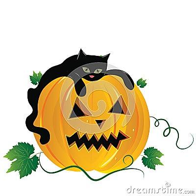 Halloween  illustration scene.