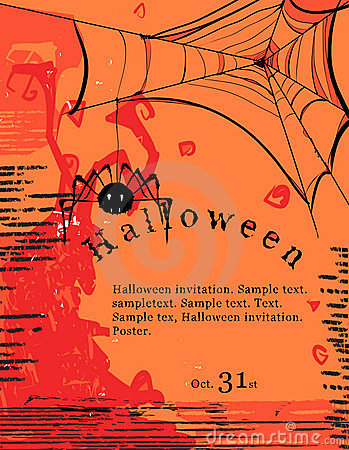 Halloween invitation poster