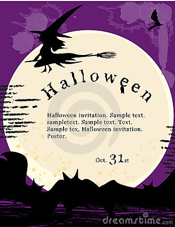Halloween invitation poster.