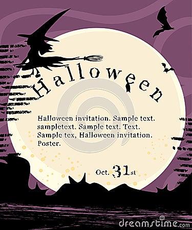 Halloween invitation poster