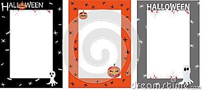 Halloween invites poster border