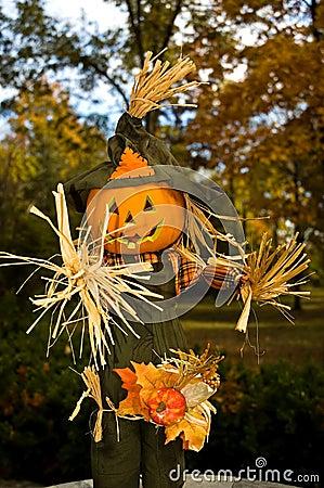 Halloween Jack-o-lanten Scarecrow - 1
